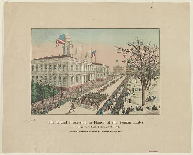 The grand procession in honor of the Fenian exiles, in New York City, February 9, 1871