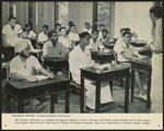 Colonial empire - introducing Malaya and Borneo. Primary education is available throughout Malaya in Tamil, Chinese, and Malay, while children of all races attend the English schools which take them to School Certificate standard. Here is a mixed class in a Kuala Lumpur college