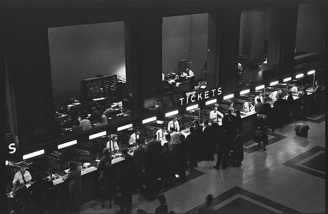 [People getting tickets at Union Station, Washington, D.C.]
