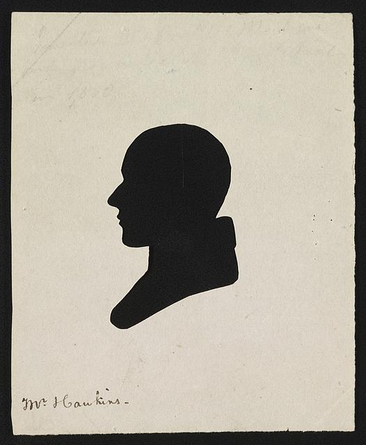 [Cut-paper silhouette of John I. Hawkins, left profile, possibly by himself using his physiognotrace device]