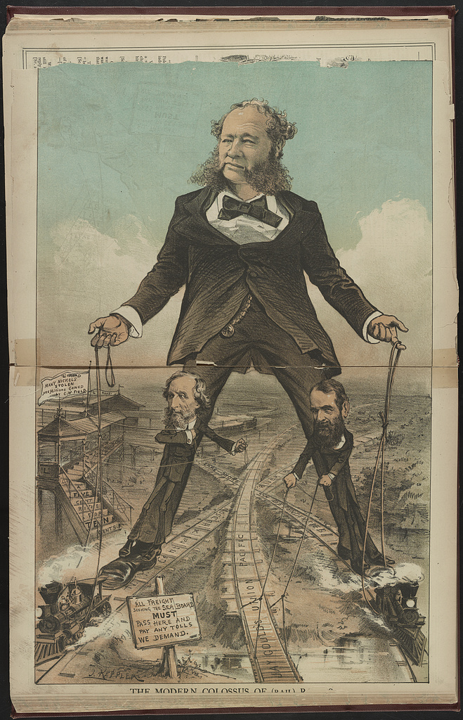 The Modern Colossus Of Rail Roads J Keppler Library Of Congress