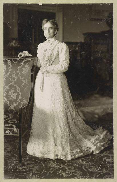 [Mrs. William McKinley, full-length portrait, standing, facing slightly left]