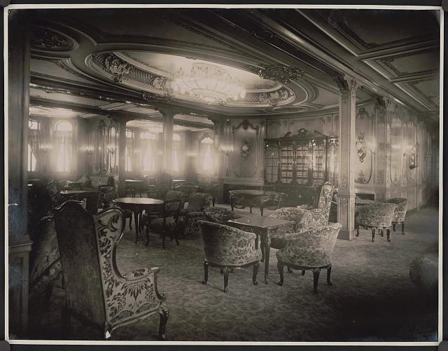 [White Star Steamship Olympic lounge room]