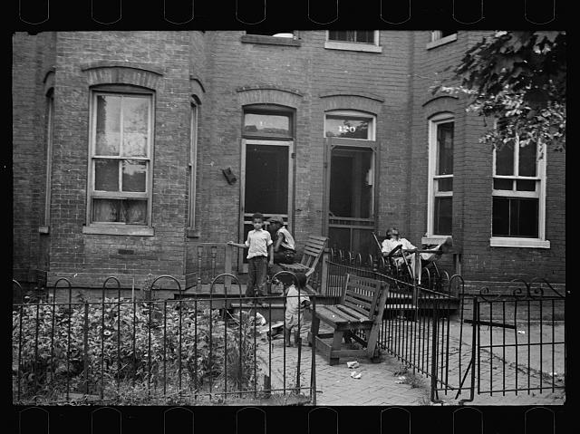 A once proud section, Washington, D.C. These houses now are overcrowded with a Negro population and greatly in need of more sanitary methods