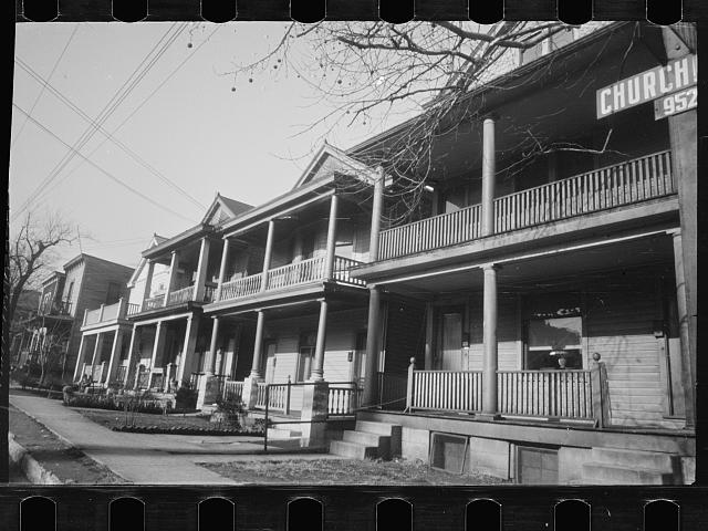 [Untitled photo, possibly related to: Typical half-built house at Steel Subdivision, Hamilton County, Ohio]