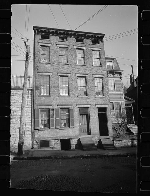 Tenement. Hamilton County, Ohio. Mt. Adams Section, Ellen Street; SR-OH-1 community housing