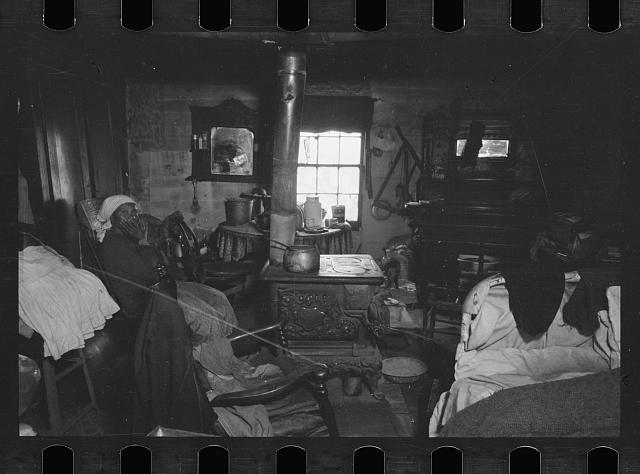 Negro dwelling interior, Hamilton Co., Ohio