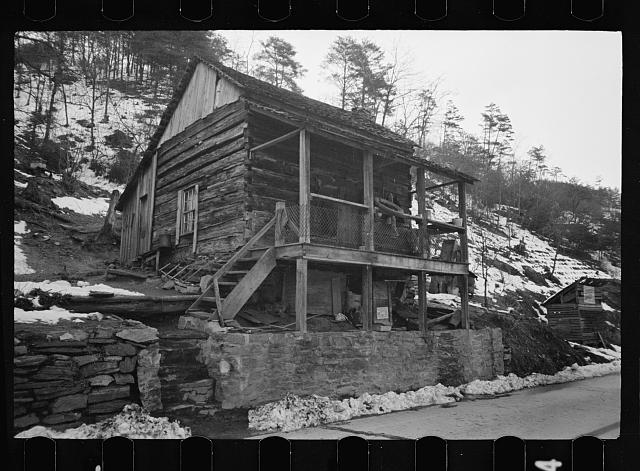 Mountain home, Appalachian Mountains, housed two white families