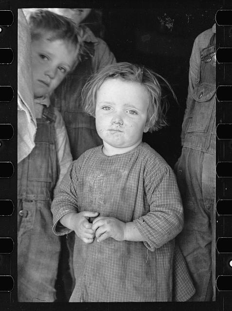 Baby girl of family living on Natchez Trace Project, near Lexington, Tennessee