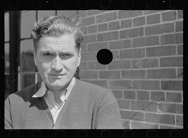[Untitled photo, possibly related to: Company clerk in company owned coal town, Kempton, West Virginia]