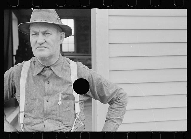 [Untitled photo, possibly related to: Manager of wood working plant at Tygart Valley Homesteads, West Virginia]