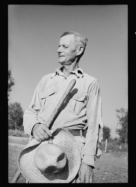 [Untitled photo, possibly related to: Farmer who has been resettled on good land, Dyess Colony, Mississippi County, Arkansas]