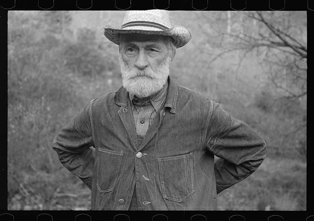 [Untitled photo, possibly related to: Russ Nicholson, grandfather of all the Nicholsons in Nicholson Hollow, Virginia]