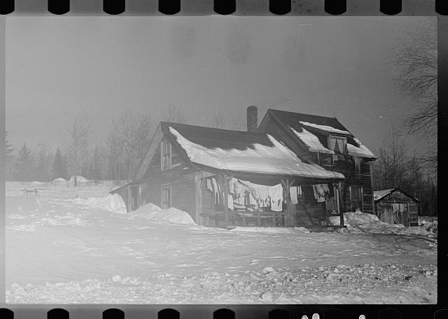 [Untitled photo, possibly related to: Home of paper mill worker, Groveton, New Hampshire]