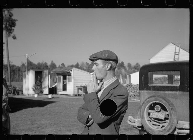 [Untitled photo, possibly related to: Zeb Atkinson, homesteader, Penderlea Farms, North Carolina]