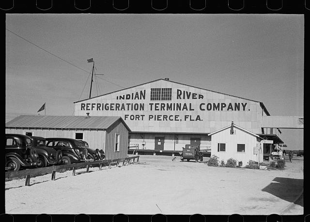 Refrigeration terminal at Fort Pierce, Florida