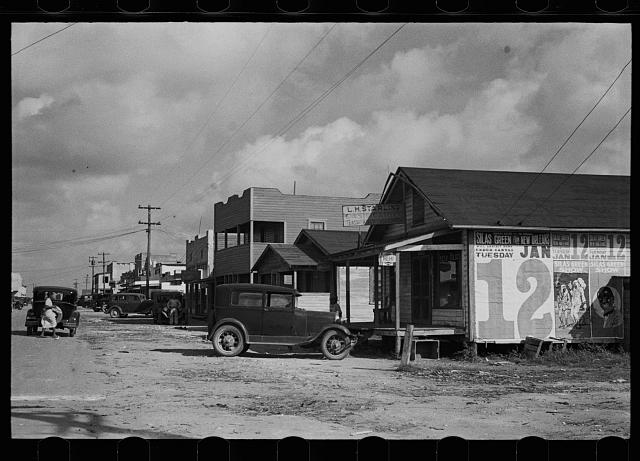 A street in the Negro section of Belle Glade, Florida