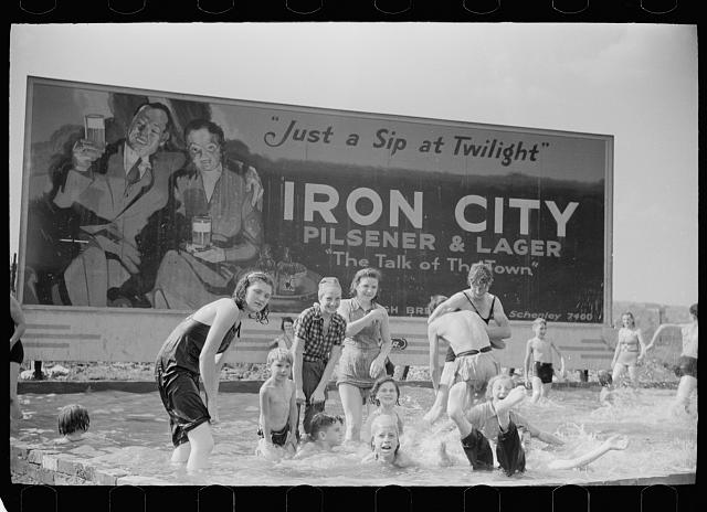 Homemade swimming pool for steelworkers' children, Pittsburgh, Pennsylvania