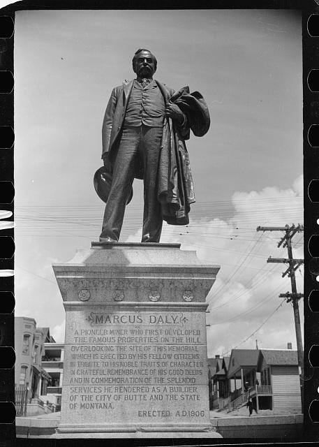 Statue of Marcus Daly, pioneer miner, Butte, Montana