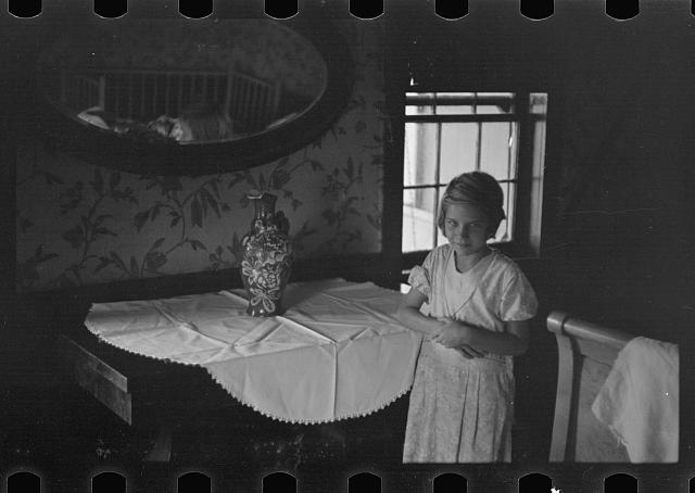 [Untitled photo, possibly related to: Interior of prospective homesteader's house, Westmoreland County, Pennsylvania]
