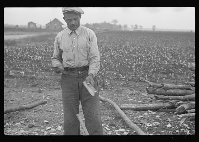 [Untitled photo, possibly related to: Home of sharecroppers, Arkansas]