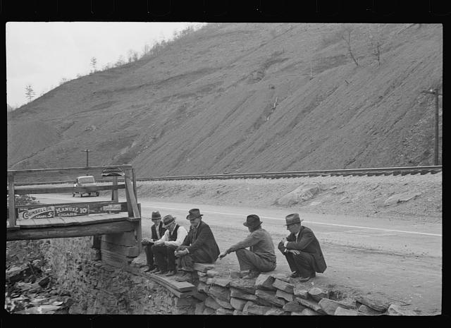 [Untitled photo, possibly related to: Coal slack pile near Omar, West Virginia]