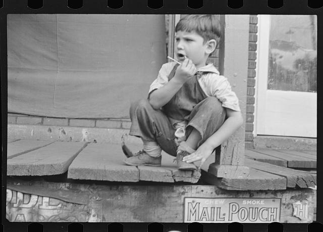 [Untitled photo, possibly related to: Young resident of Omar, West Virginia]