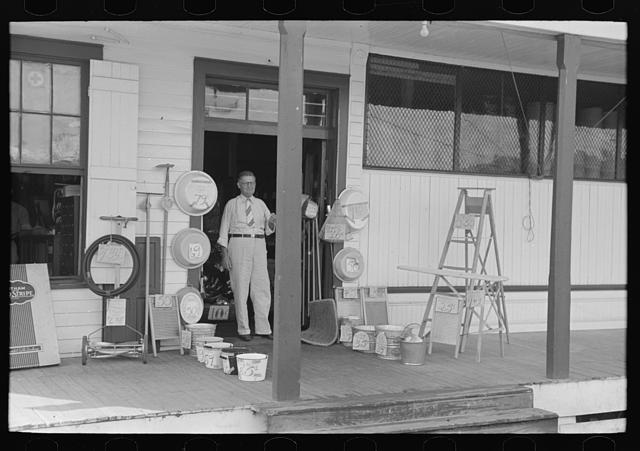 Entrance to general store, Garyville, Louisiana