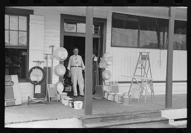 [Untitled photo, possibly related to: Entrance to general store, Garyville, Louisiana]