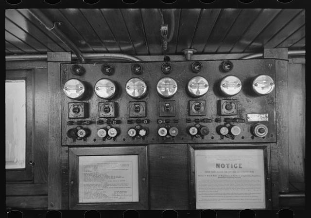 [Untitled photo, possibly related to: Wheel house of U.S. Engineer's tug]