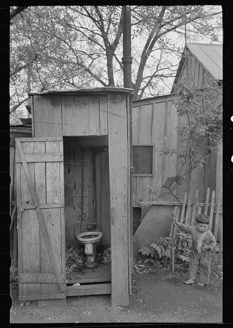 [Untitled photo, possibly related to: Privy and water supply, Mexican district, San Antonio, Texas]