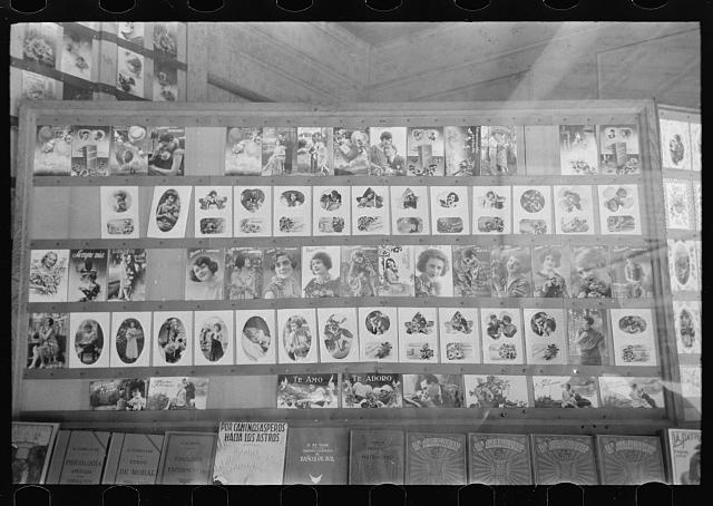 [Untitled photo, possibly related to: Mexican newsstand, San Antonio, Texas]