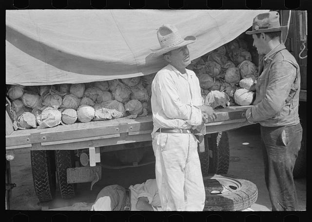 [Untitled photo, possibly related to: Vegetable peddlers in open air market, San Antonio, Texas]