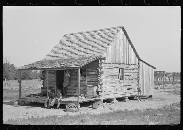 Home of white agricultural day laborers north of Sallisaw, Sequoyah County, Oklahoma