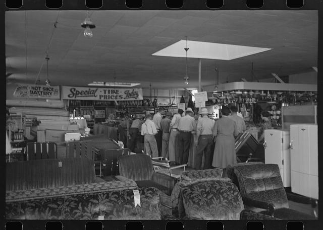 [Untitled photo, possibly related to: Interior of store of the United Producers and Consumers Cooperative, Phoenix, Arizona]
