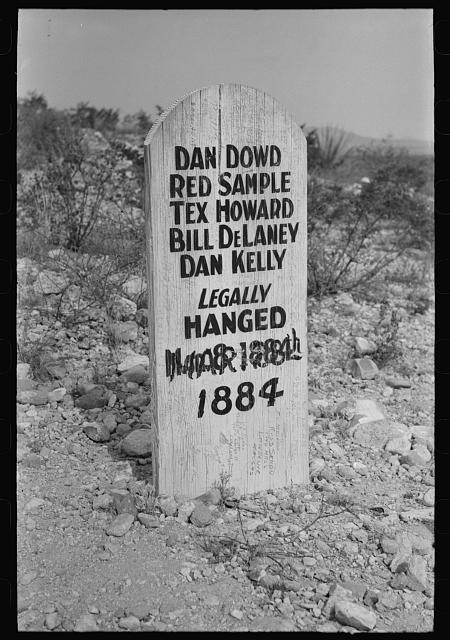 Tombstone in Boothill Cemetery, Tombstone, Arizona