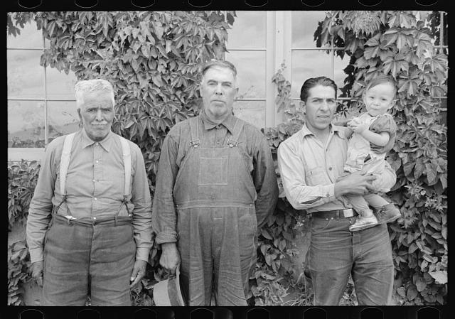 Family group of Spanish-Americans, Chamisal, New Mexico