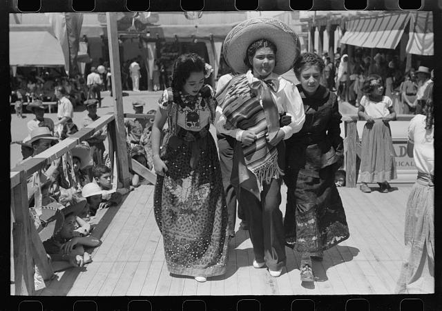 Spanish-American native dance. Fiesta at Taos, New Mexico
