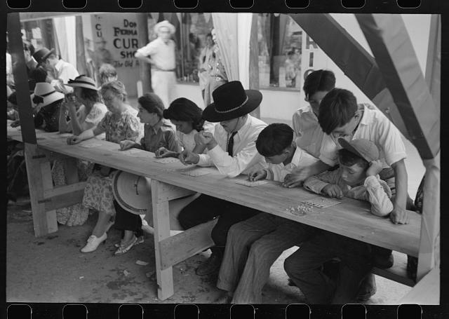 [Untitled photo, possibly related to: Bingo at fiesta, Taos, New Mexico]