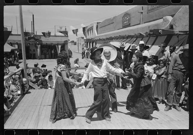 [Untitled photo, possibly related to: Native Spanish-American dance. Fiesta, Taos, New Mexico]
