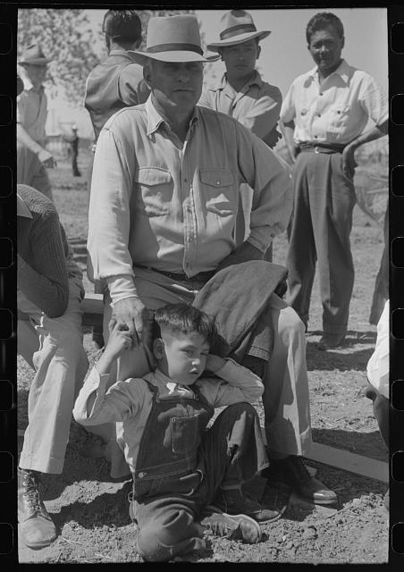 [Untitled photo, possibly related to: At the annual field day of the FSA (Farm Security Administration) farmworkers community, Yuma, Arizona]