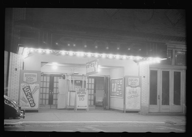 [Untitled photo, possibly related to: A small movie house on the main street of Durham, North Carolina]