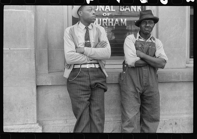 [Untitled photo, possibly related to: Young Negro flower vendor, Durham, North Carolina]