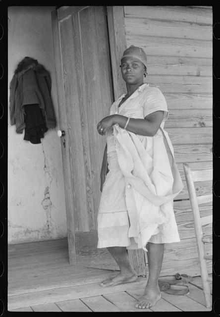 [Untitled photo, possibly related to: Negro tenant farmer's wife. Near Stem, North Carolina]