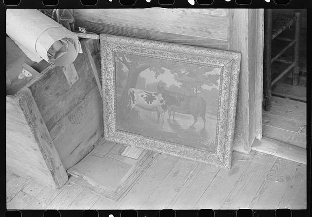 Belongings of a Negro farmer set out on the porch to be moved out of the Camp Croft army camp area. Near Spartanburg, South Carolina