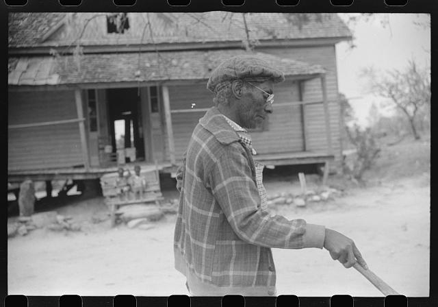 This seventy-nine year old woman plans to go to Tennessee to live with one of her children there. Eight of her children have left their home in Heard County. Southern section of Heard County, Georgia