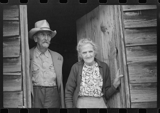 Greene County, Georgia. Old couple who receive old-age pension assistance