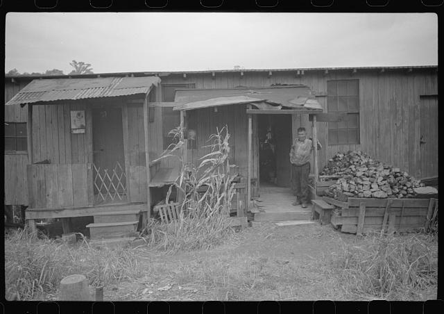Section of Rosedale Mining Compnay. Shanties by the river. Scotts Run, West Virginia