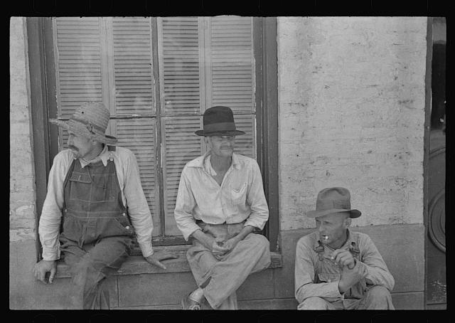 Frank Tengle, Bud Fields, and Floyd Burroughs, cotton sharecroppers, Hale County, Alabama