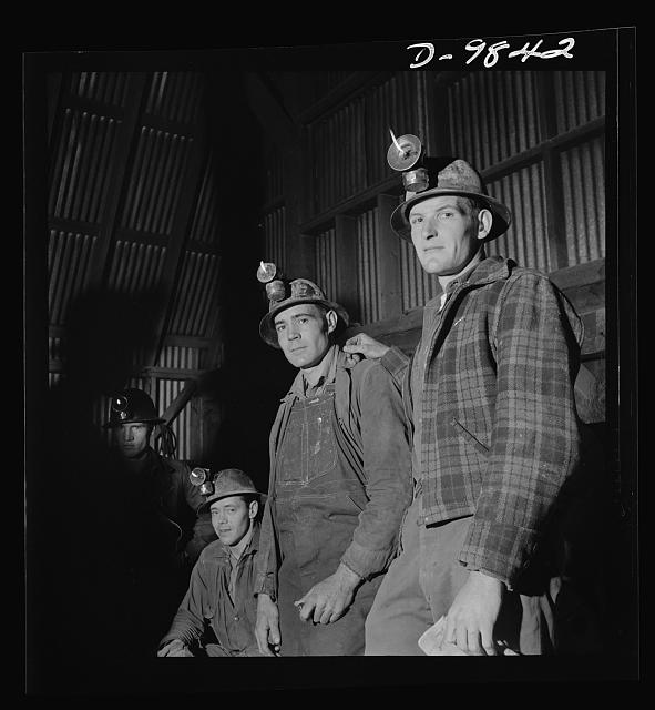 "Production. Lead. Types of miners who work the lead mines near Creede, Colorado. Creede, for many years a ""ghost town,"" has resumed the activities that made it an important lead-producing center years ago, and is now producing much metal vitally needed for the war effort"
